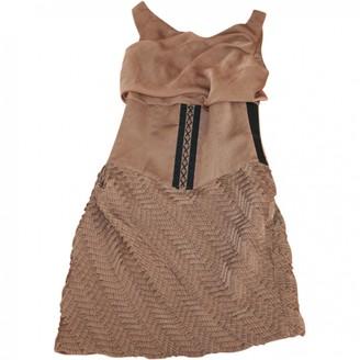 Jay Ahr Brown Silk Dress for Women