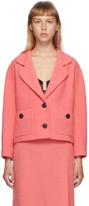 Gucci Pink Tweed Blazer