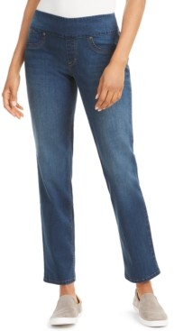 Style&Co. Style & Co Straight-Fit Pull-On Jeans, Created for Macy's