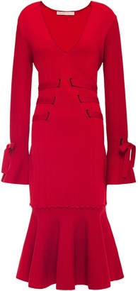 Jonathan Simkhai Fluted Jacquard-knit Dress