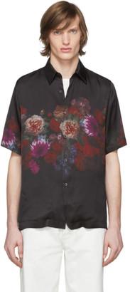 Dries Van Noten Black Floral Print Shirt