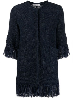 Charlott Frayed Tweed Jacket