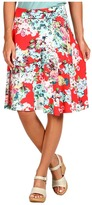 Three Dots - Skirt with Waistband (Spring Bouquet) - Apparel