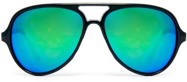 Asos Plastic Aviator Sunglasses With Mirror Lens