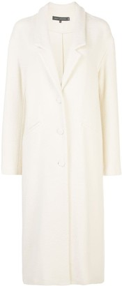 Sally LaPointe single-breasted dropped collar coat