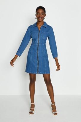 Coast Zip Through Denim Dress