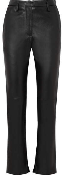Golden Goose Cembra Leather Flared Pants - Black