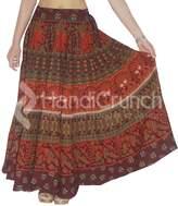 handmade exports Women's Bohemian Rapron, Elephant Mandala Floor Length Long Skirts, Maxi Dress.