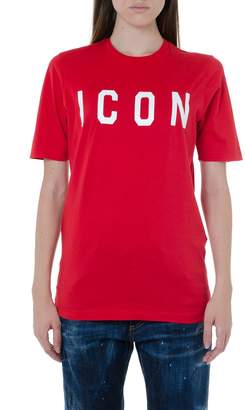 DSQUARED2 Icon Red Cotton T-shirt