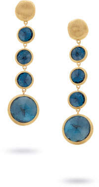 Marco Bicego Jaipur 18K Gold Blue Topaz Drop Earrings