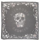 Alexander McQueen Women's Jeweled Skull Silk Scarf