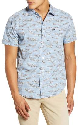 RVCA Camelia Hedge Floral Short Sleeve Button-Up Shirt