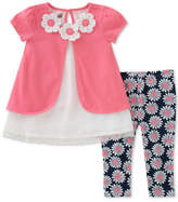 Kids Headquarters 2-Pc. Floral Tunic and Capri Leggings Set, Little Girls