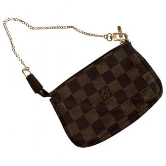 Louis Vuitton Pochette Accessoire Brown Cloth Clutch bags