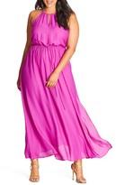 City Chic Plus Size Women's Halter Maxi Dress