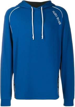 BOSS logo print hoodie