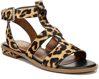 Franco Sarto Moni Genuine Calf Hair T-Strap Sandal