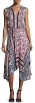 Parker Lota Patchwork-Print Midi Dress