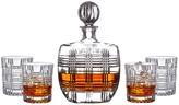Jay Import Bridgeport 5-Piece Decanter & Whiskey Glasses Set