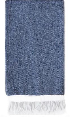 Turkish T Basic Single-Stripe Towel - Navy