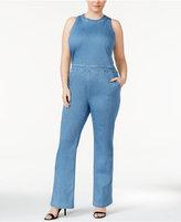 Rachel Roy Trendy Plus Size Denim Jumpsuit