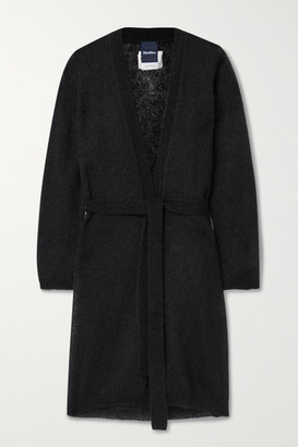 Max Mara Leisure Calante Belted Mohair-blend Cardigan - Black