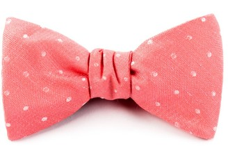 The Tie Bar Dotted Dots Coral Bow Tie