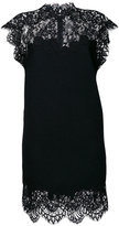 Ermanno Scervino high neck lace dress - women - Silk/Cotton/Polyamide/Wool - 40