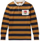 Kent & Curwen Appliquéd Cotton-Jersey Polo Shirt