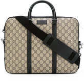 Gucci GG Supreme laptop bag - women - Leather/Rayon - One Size