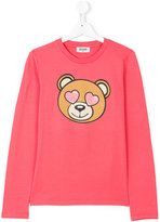 Moschino Kids bear print long sleeve T-shirt
