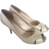 Max Mara Ecru Leather Heels