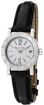 Bulgari Women's Off White Dial Black Crocodile