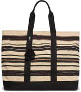 Dries Van Noten Tasselled Striped Canvas Tote Bag