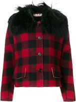 Marni oversized check jacket - women - Lamb Skin/Viscose/Wool - 40