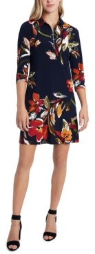MSK Floral-Print Shift Dress