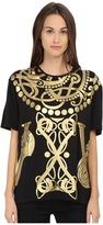 Versace Short Sleeve Foil Print T-Shirt Women's T Shirt