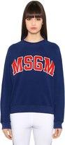 MSGM Oversized Printed Cotton Sweatshirt