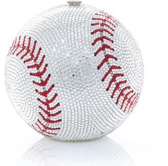 Judith Leiber Sphere Baseball Clutch Bag