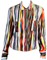 Chelsea Flower Stripe Button Down Shirt in Abstract
