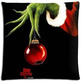 pillow cases covers 18x18 inch 45x45 cm home pillow cover cases Cotton / Polyester Durable Fashion How the Grinch Stole Christmas