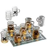 Crystal Clear Tic Tac Toe Drinking Game Set with Mini Beer Mugs