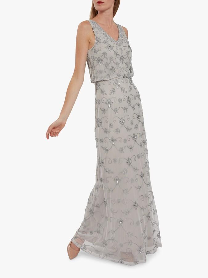 Thumbnail for your product : Gina Bacconi Drea Beaded Maxi Dress
