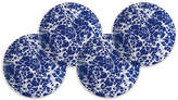 Caskata Set of 4 Marble Dessert Plates - Blue/White