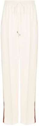 Chloé High-waisted Drawstring Pants Pristine White