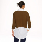 J.Crew Collection cashmere cropped sweater