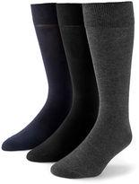Black Brown 1826 3-Pack Bamboo Cotton Socks