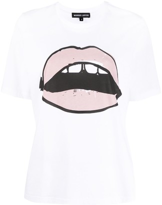 Markus Lupfer Alex Painted Lip tee