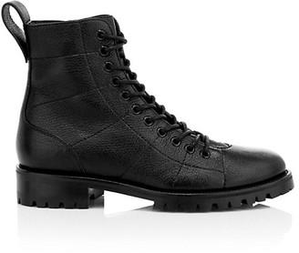 Jimmy Choo Cruz Leather Combat Boots