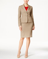 Le Suit Two-Button Skirt Suit with Shell